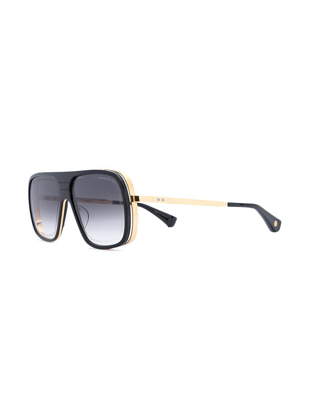 1401c678767b Lyst - Dita Eyewear Gold Trim Oversized Sunglasses in Black