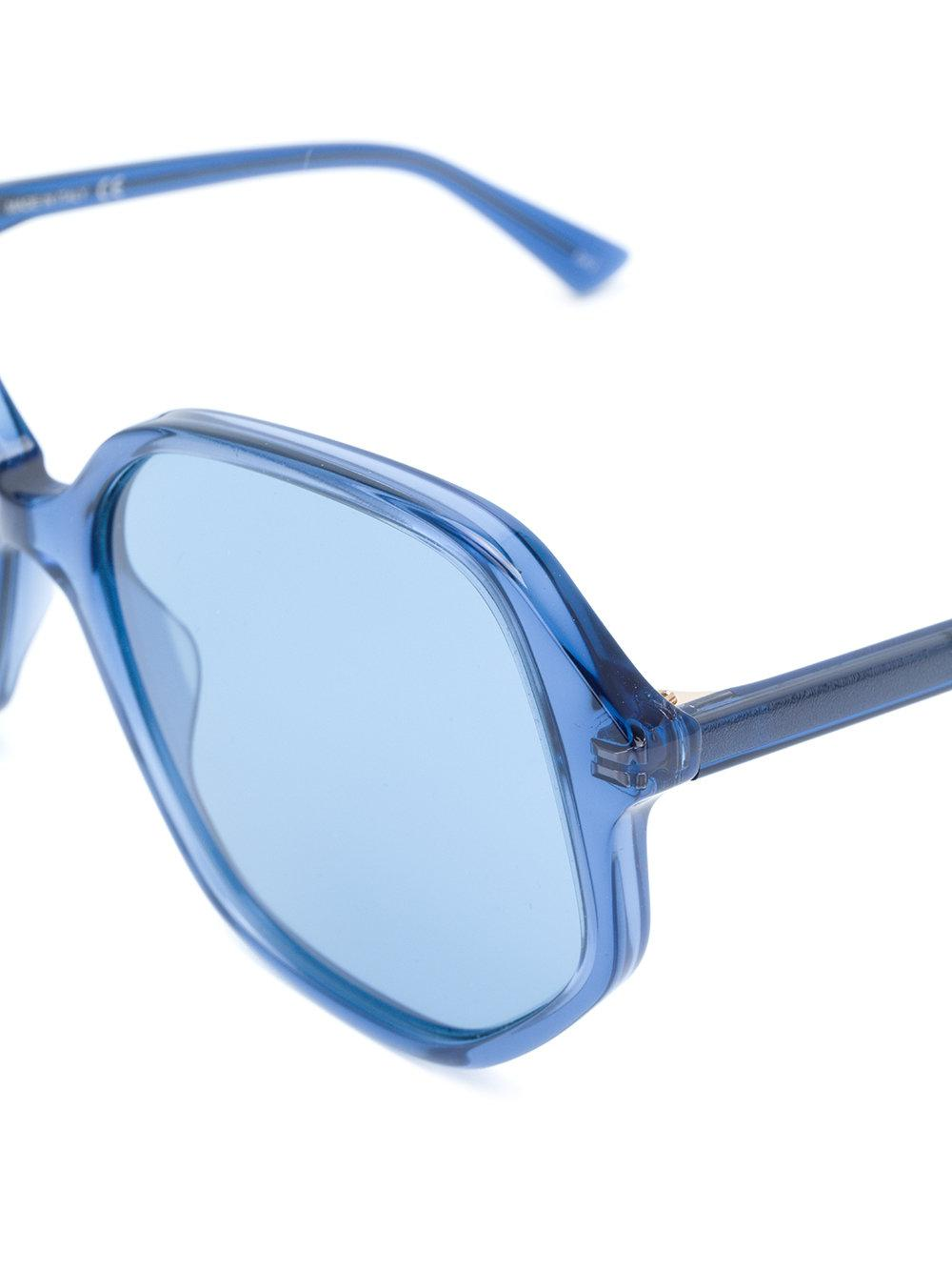 11937dc526 Gucci - Blue Clear Oversized Glasses - Lyst. View fullscreen