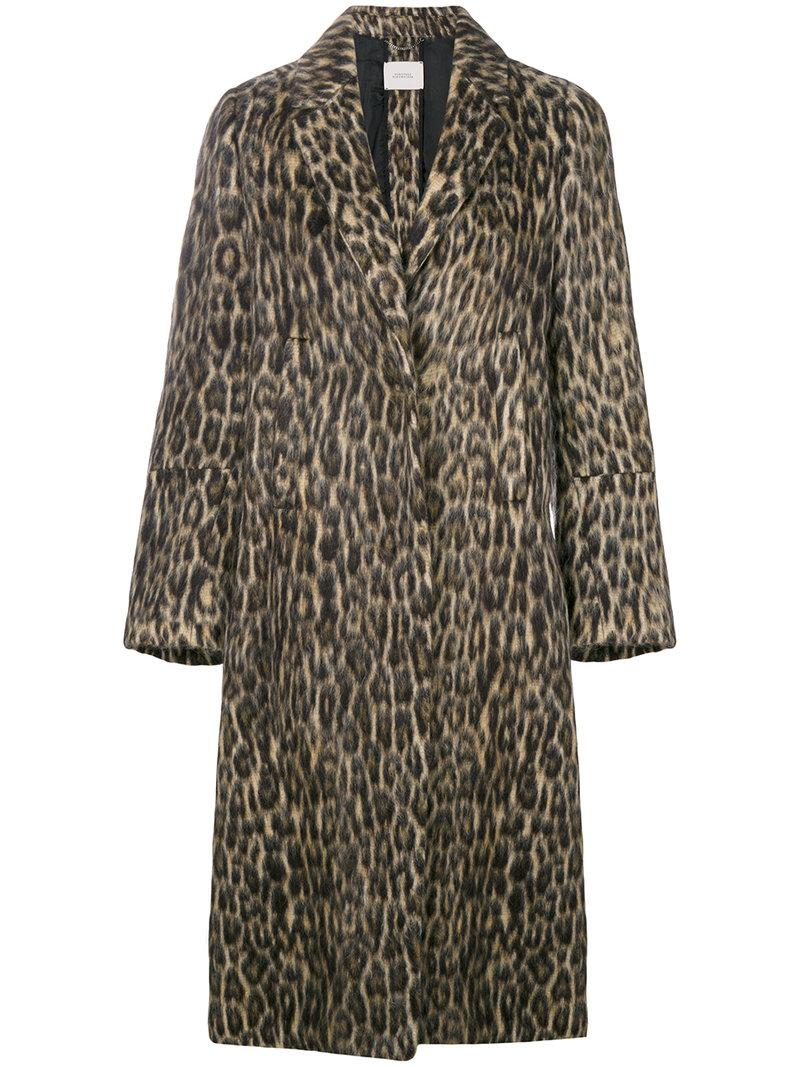 dorothee schumacher leopard print coat in brown lyst. Black Bedroom Furniture Sets. Home Design Ideas