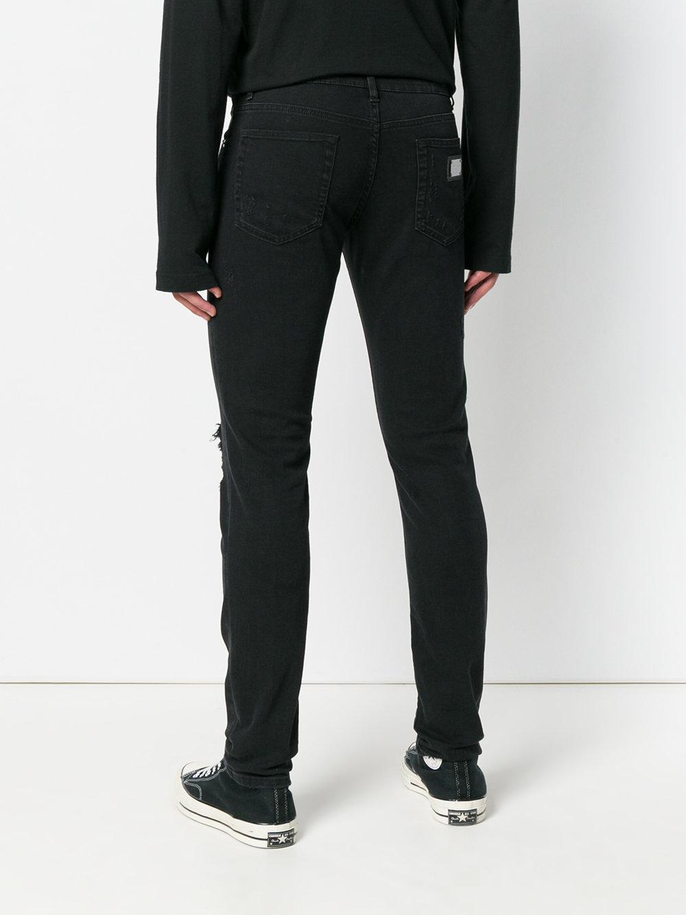 crest embroidered skinny jeans - Black Dolce & Gabbana oCcbWMAsm