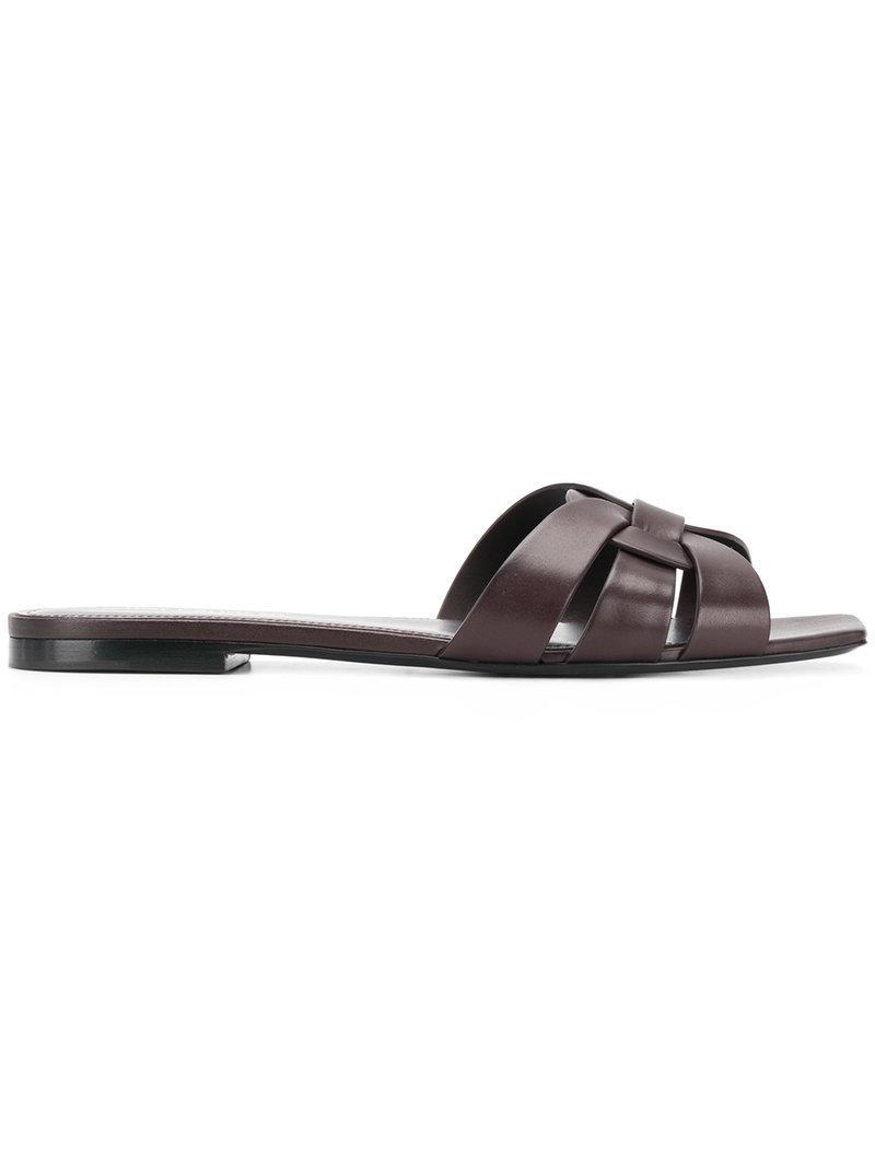 Holgura Con Mastercard Sitios Web De Venta Saint Laurent Nu Pieds sandals - Metallic farfetch Pelle Venta Barata Mejor g3SHcTqfQ