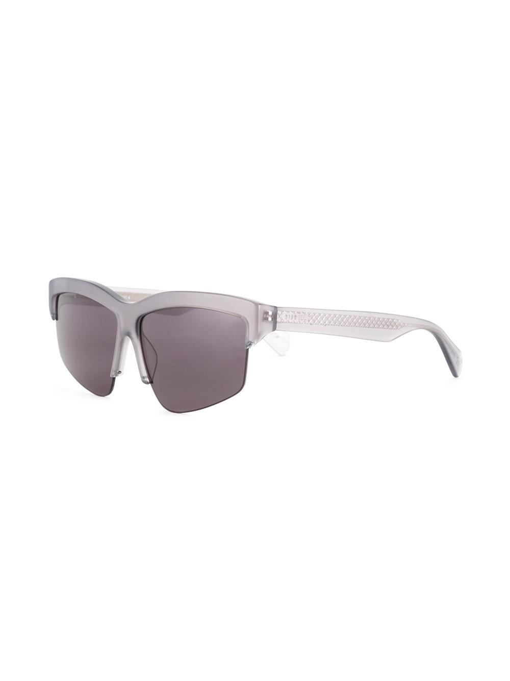 62e28fff0d46 Dion Lee - Gray Grey Mono Sunglasses - Lyst. View fullscreen