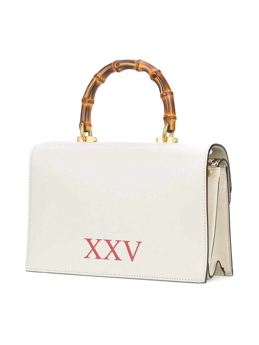 13d3fce5e6a Gucci Ottilia Leather Small Top Handle in White - Lyst