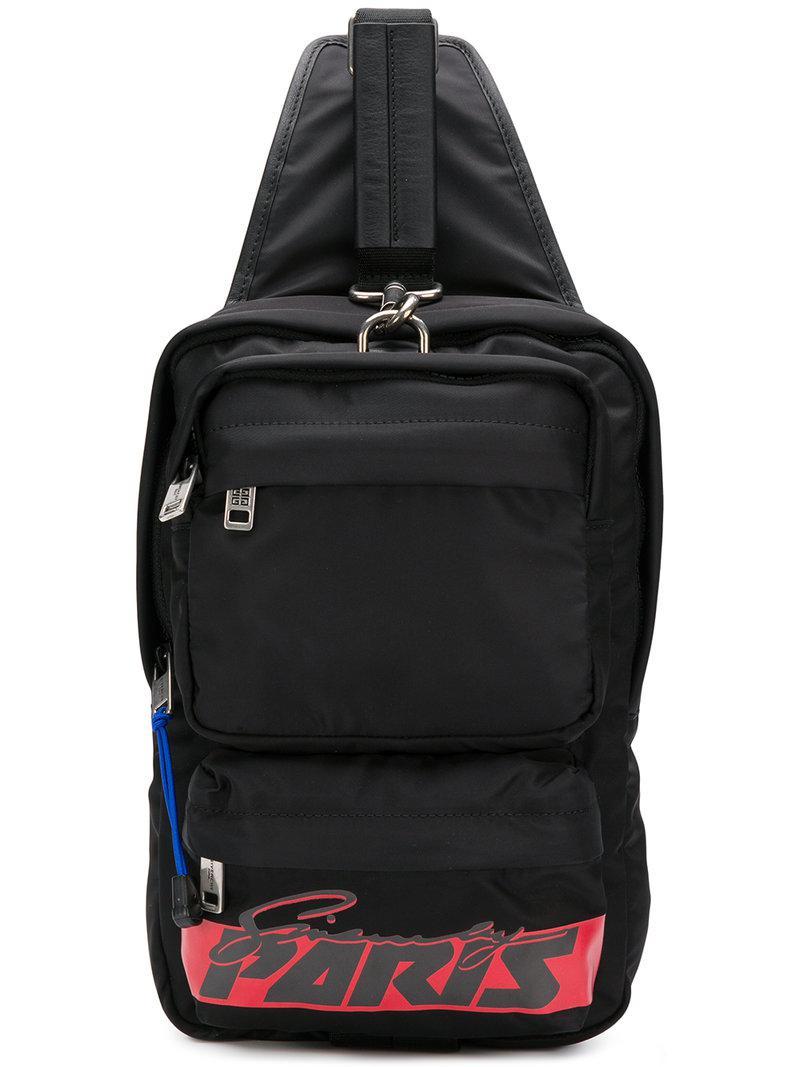 0ba669d694d4 Givenchy Motocross Cross-body Backpack in Black for Men - Lyst