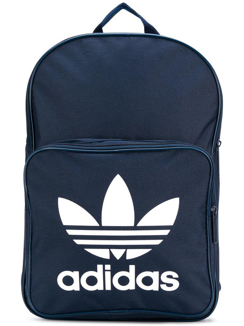 Adidas Classic Trefoil Backpack in Blue for Men - Lyst 1e694504820ba