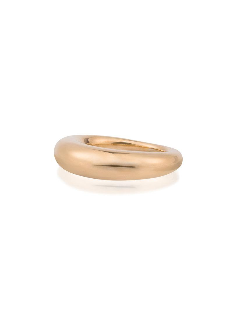 All_Blues Yellow Gold Hungry Snake Ring - Metallic d7OCuZzD