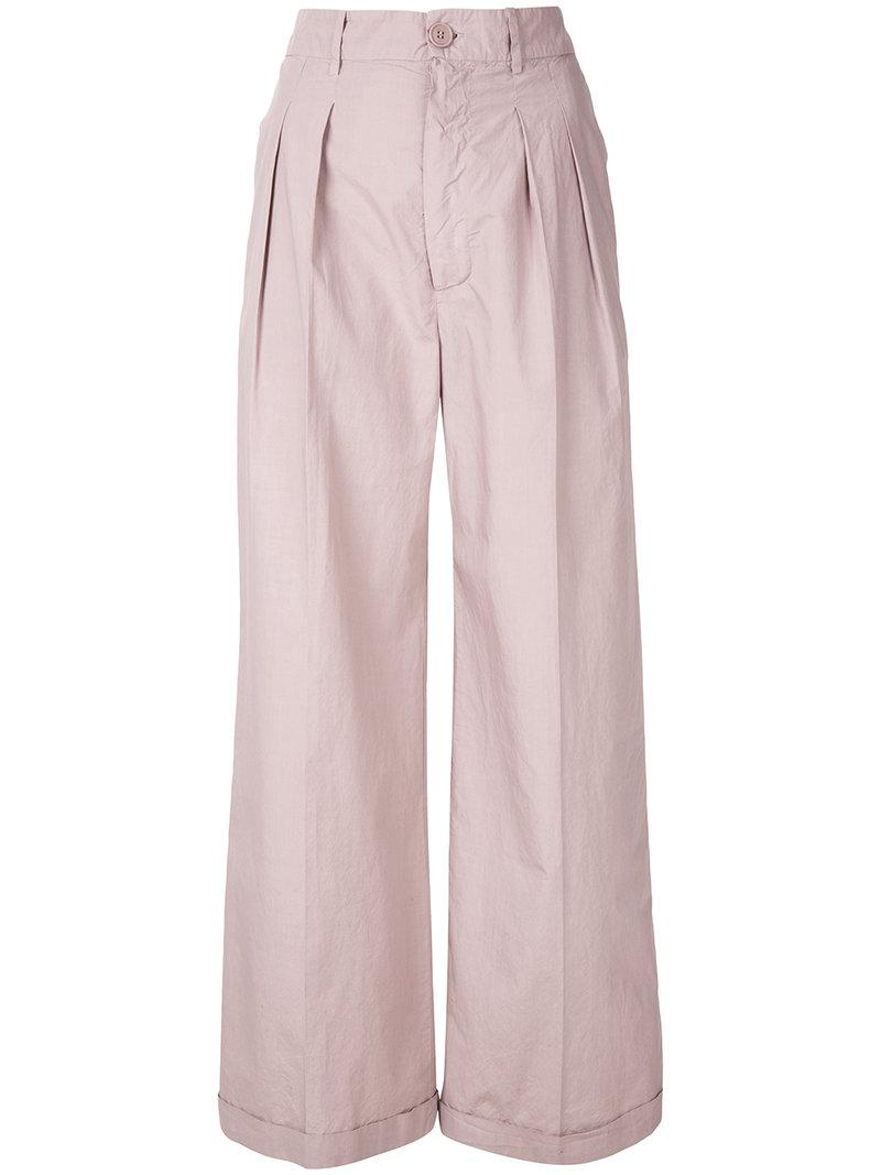 wide leg trousers - Pink & Purple Erika Cavallini Semi Couture pLiU89dzkN