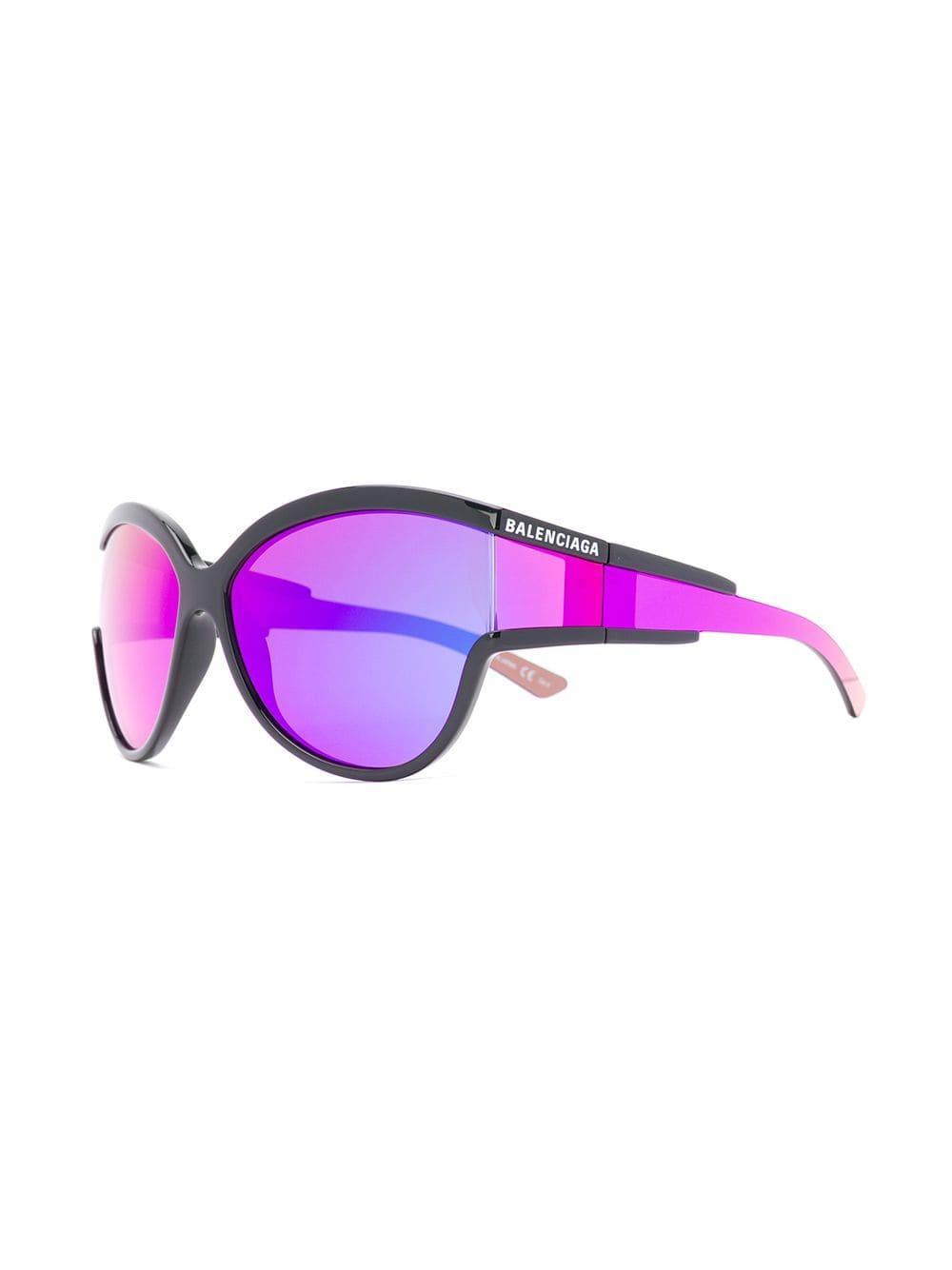 a477394f233e3 Balenciaga - Black Unlimited Round Sunglasses - Lyst. View fullscreen