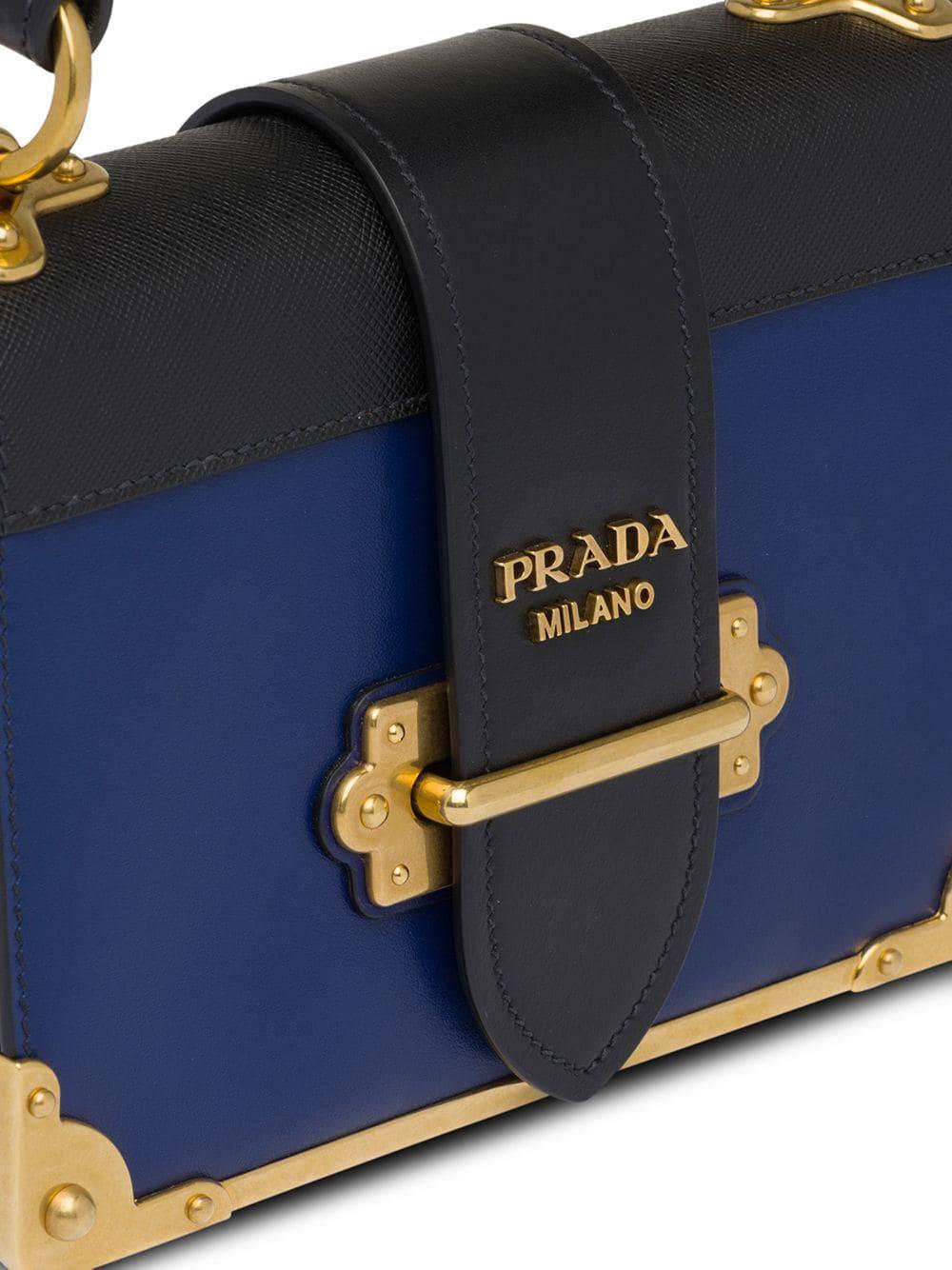 899cca2ae8ce Prada - Blue Cahier Leather Shoulder Bag - Lyst. View fullscreen