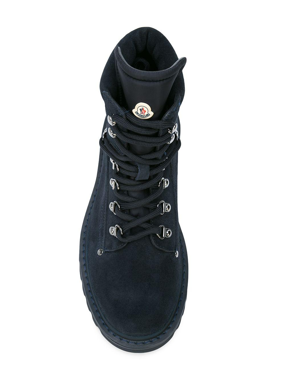 1a1f53505ce6 Lyst - Moncler Combat Boots in Blue for Men