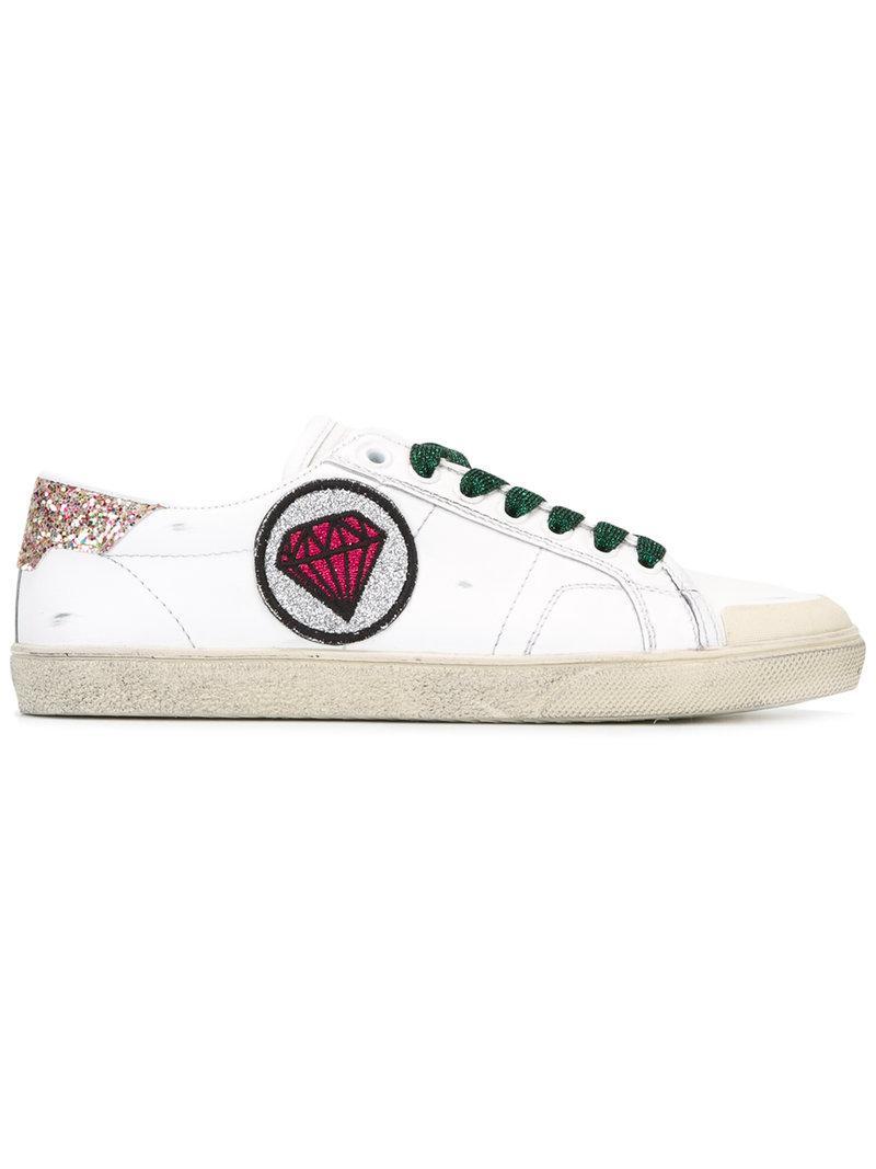 Saint Laurent Signature Court Classic SL/37 diamond patch sneakers