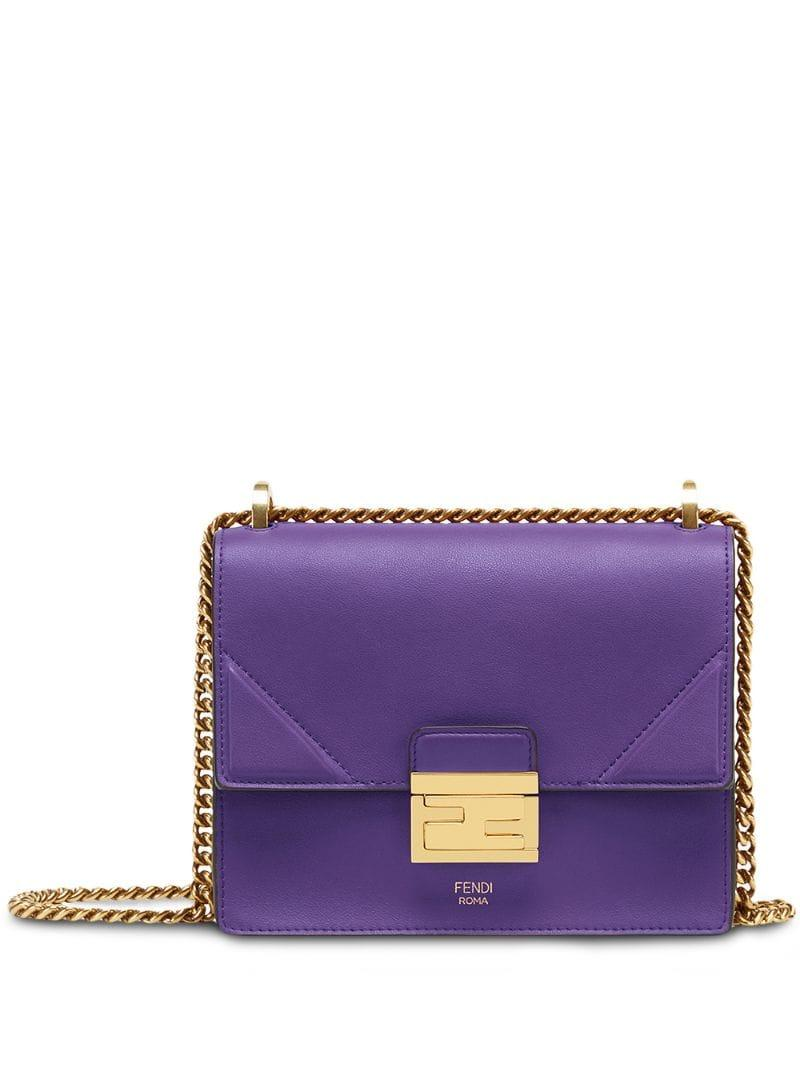 c9dd3316b8a Fendi - Purple Small Kan U Shoulder Bag - Lyst. View fullscreen