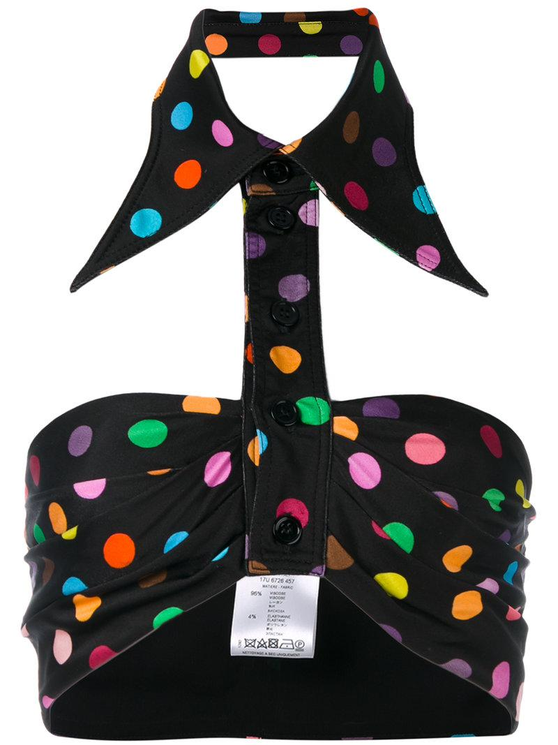 6455a7c80ea37 Givenchy Polka Dot Collared Bralette in Black - Save ...