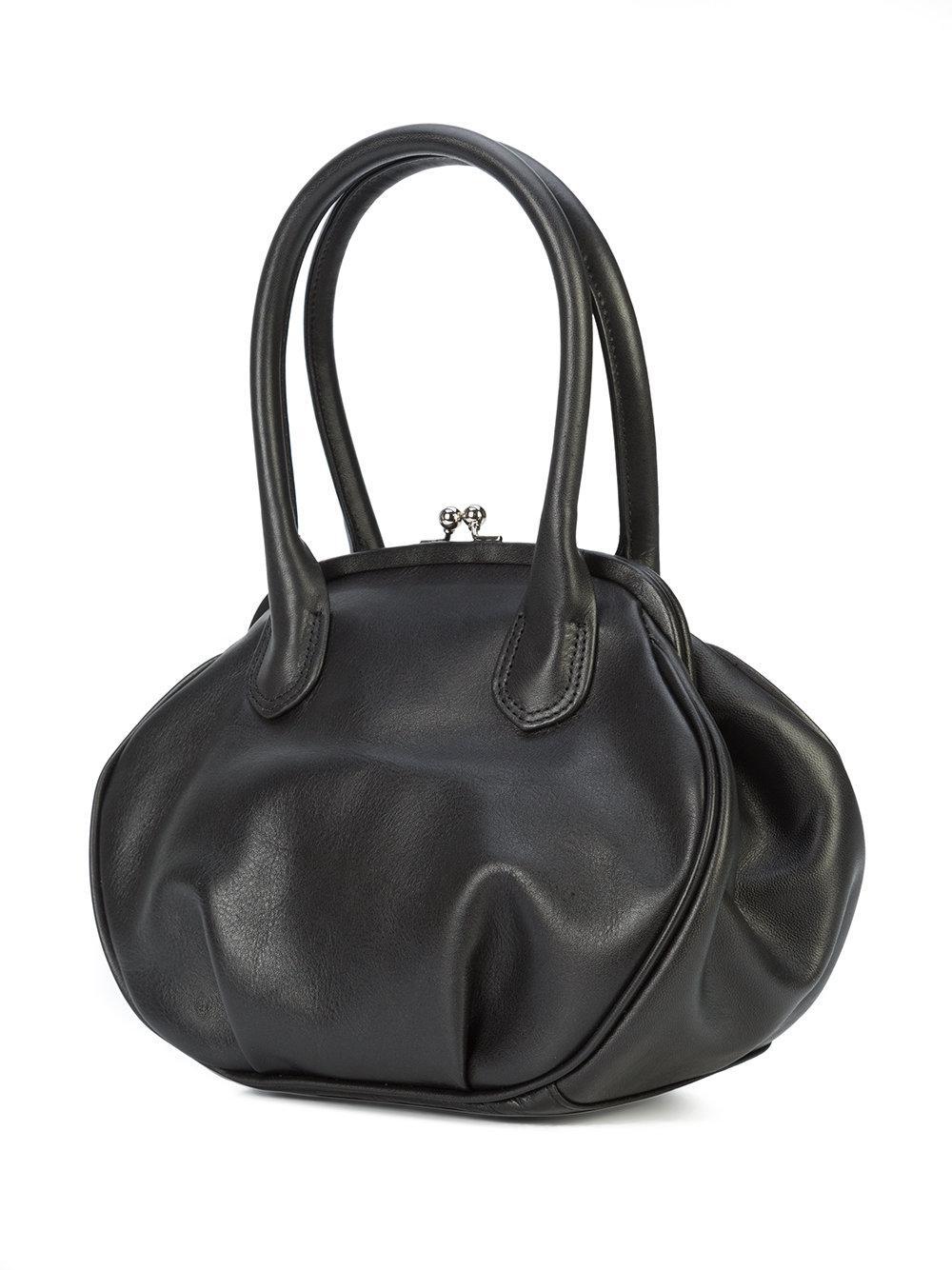 round clasp bag - Black Yohji Yamamoto Fss44