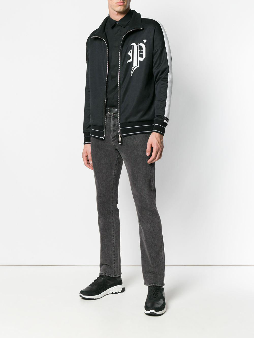 f0586a21ce9 Lyst - Philipp Plein Logo Print Jacket in Black for Men