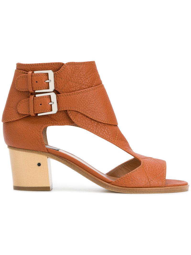 double buckle sandals - Brown Laurence Dacade CEUA4