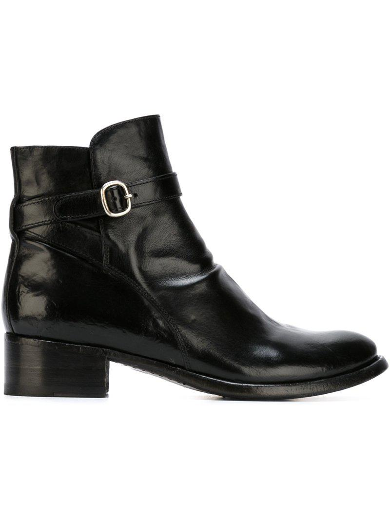 cheaper ee83d f0b8a officine-creative-Black-Buckle-Detail-Ankle-Boots.jpeg