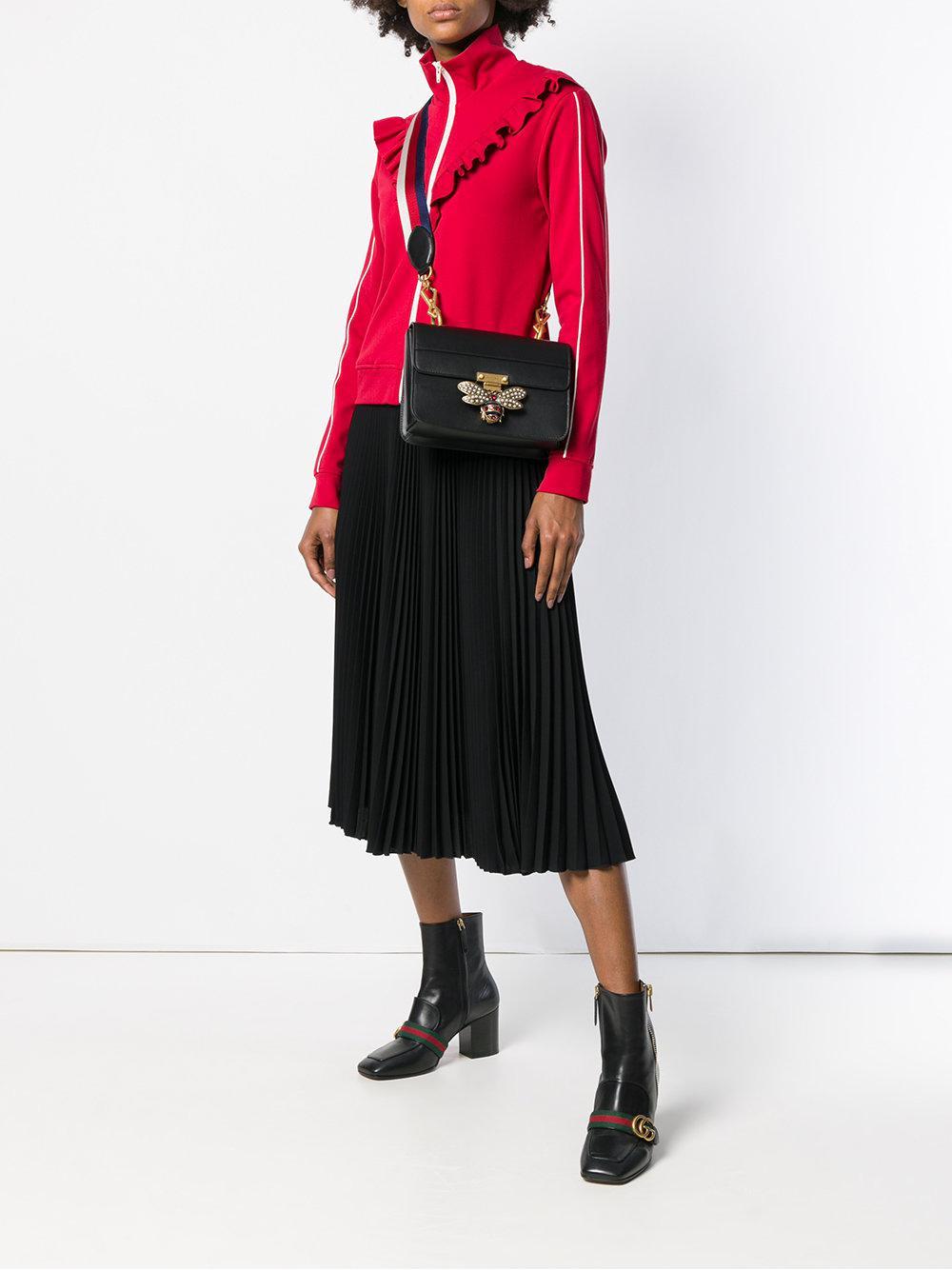 ef5ed92a9df Gucci Bee Logo Embellished Bag in Black - Lyst