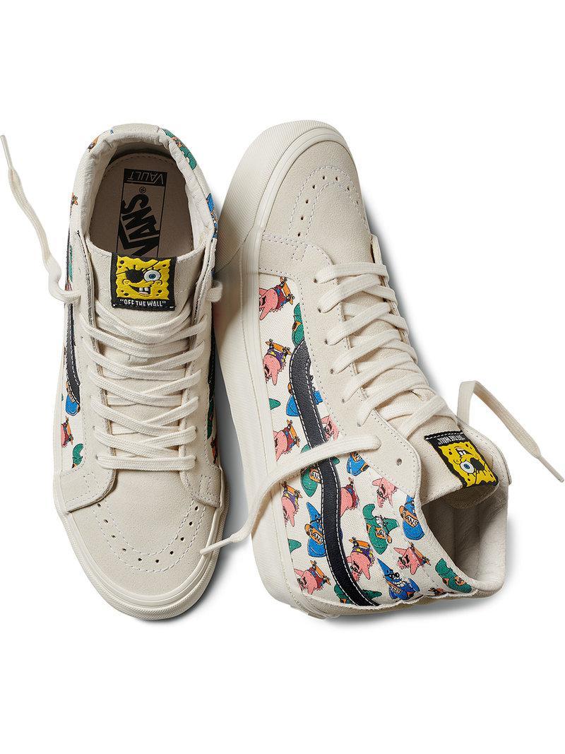 a460e5e83f Lyst - Vans X Spongebob Sk8-hi Appliqué Sneakers in White for Men