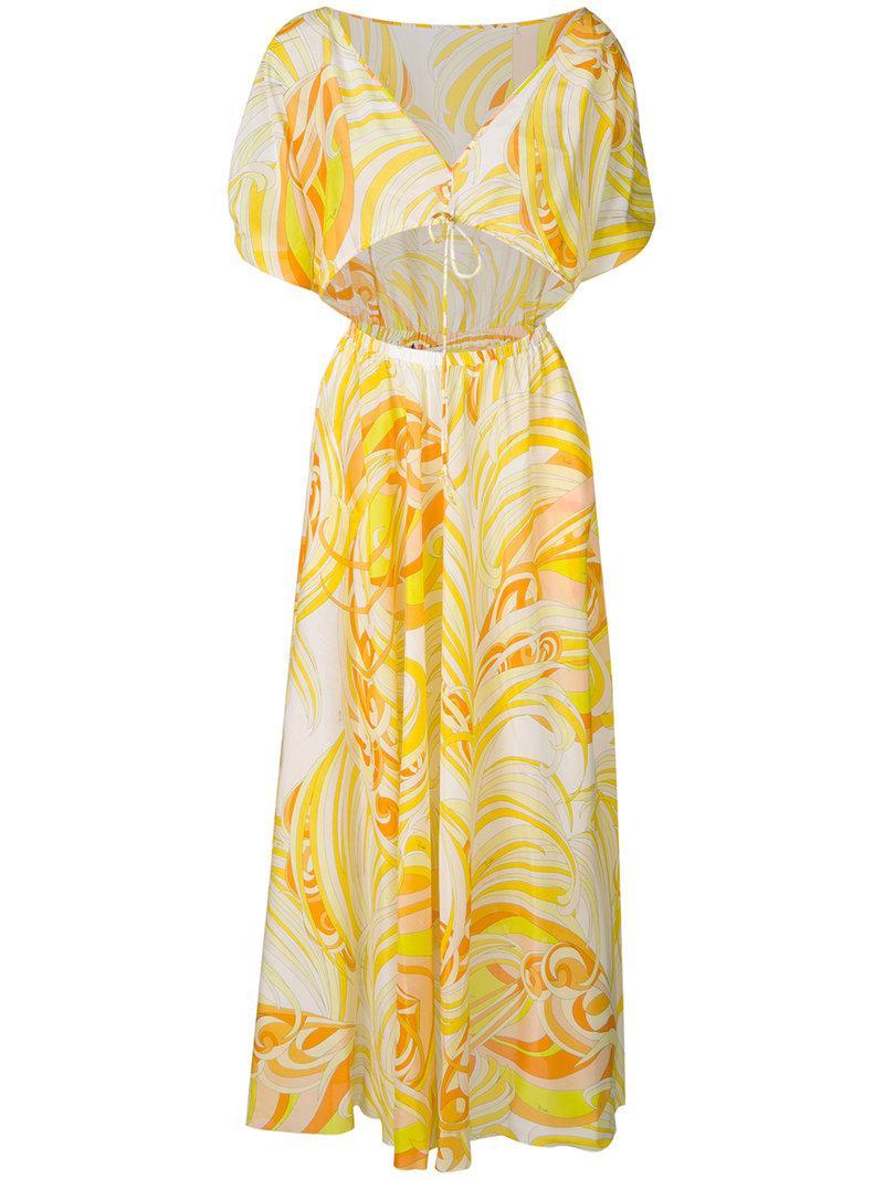 cut-out detail dress - Yellow & Orange Emilio Pucci FKs4ofWa8