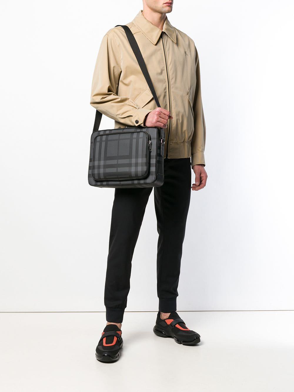 Burberry - Gray Check Shoulder Bag for Men - Lyst. View fullscreen 03b7ec0d47a24