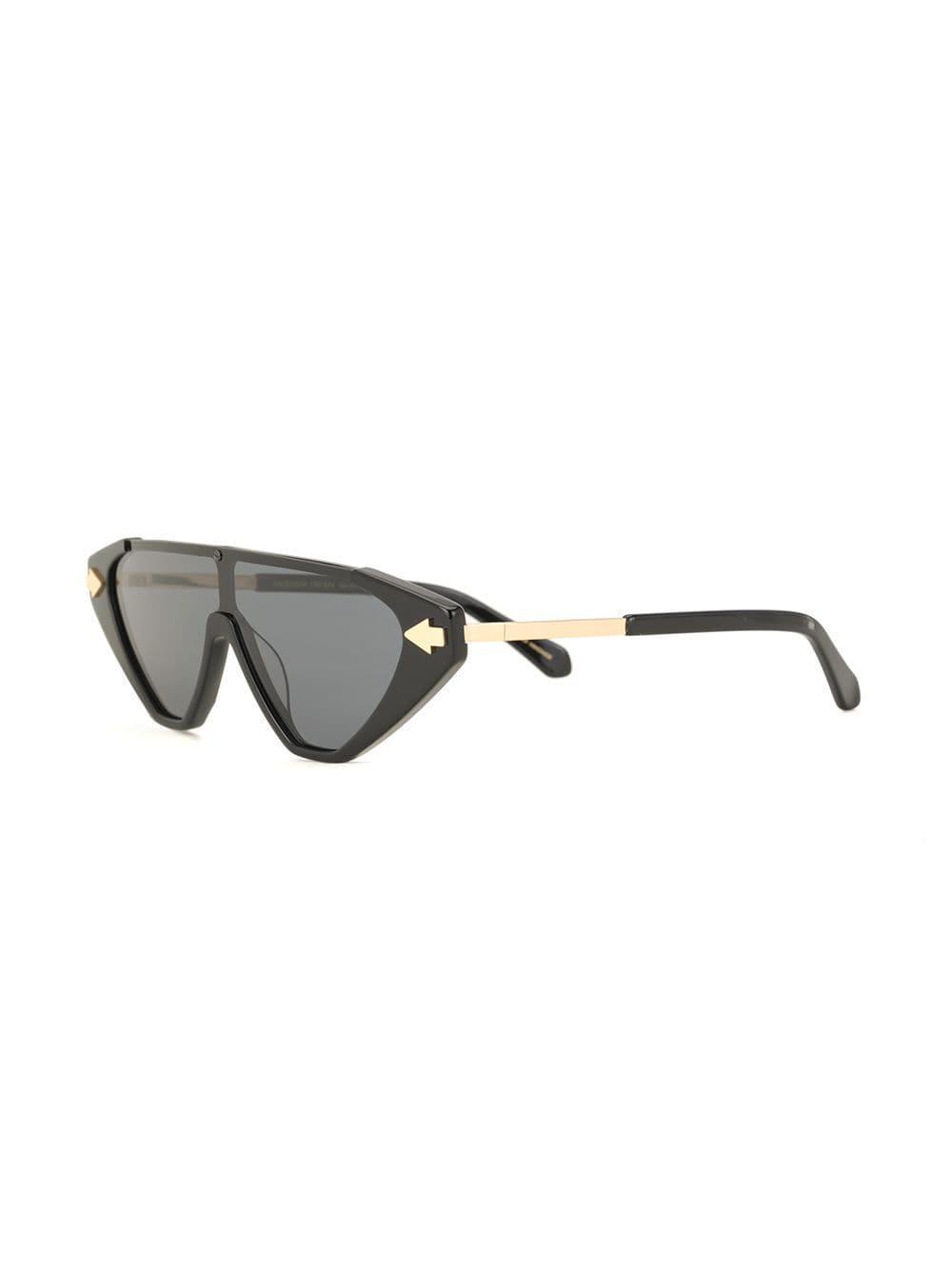 5a681d216cb2 Karen Walker Hallelujah Shield Sunglasses in Black - Lyst