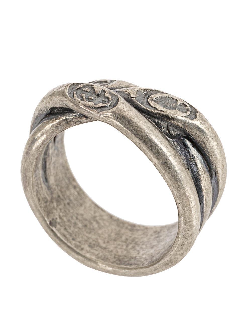 Tobias Wistisen twisted ring - Metallic C2d5Awz