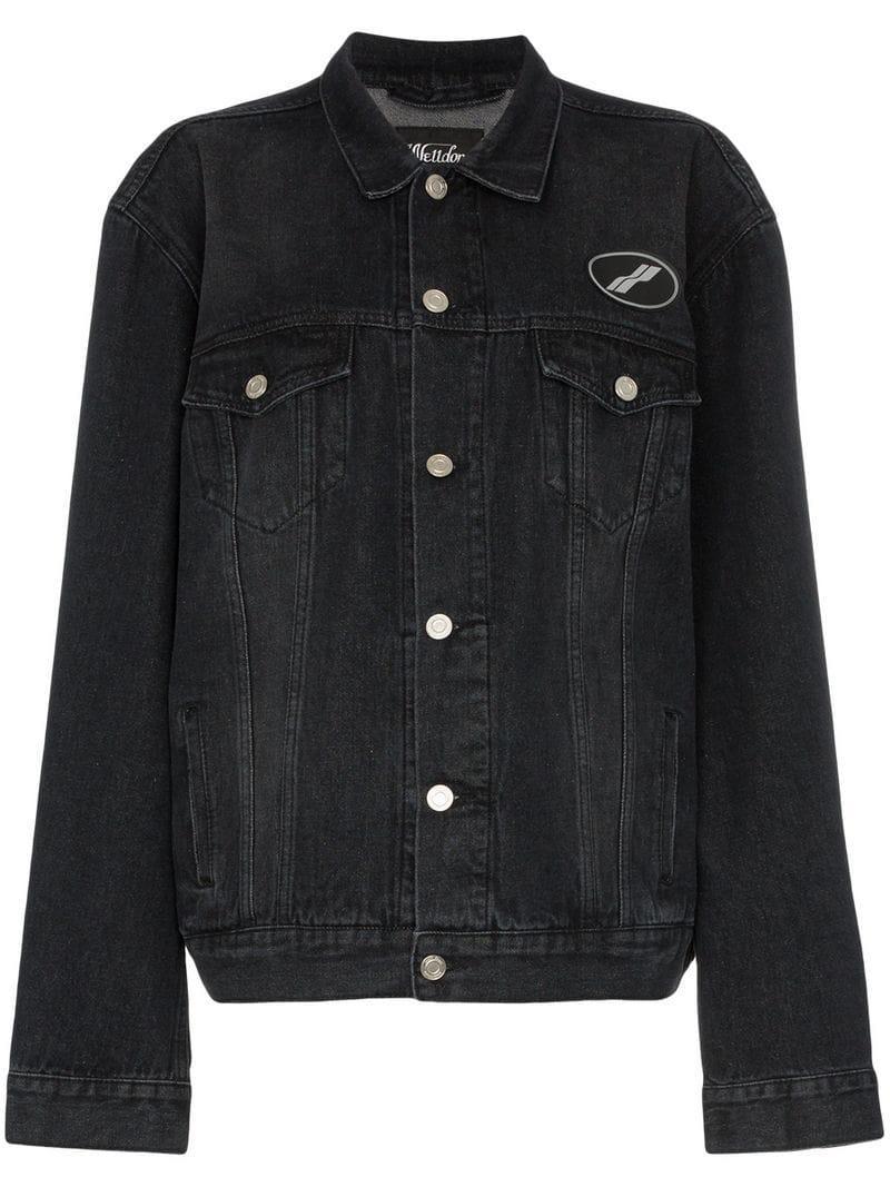 Faded Usa Denim We11done Black Women's Jacket wxCqtfFtZ