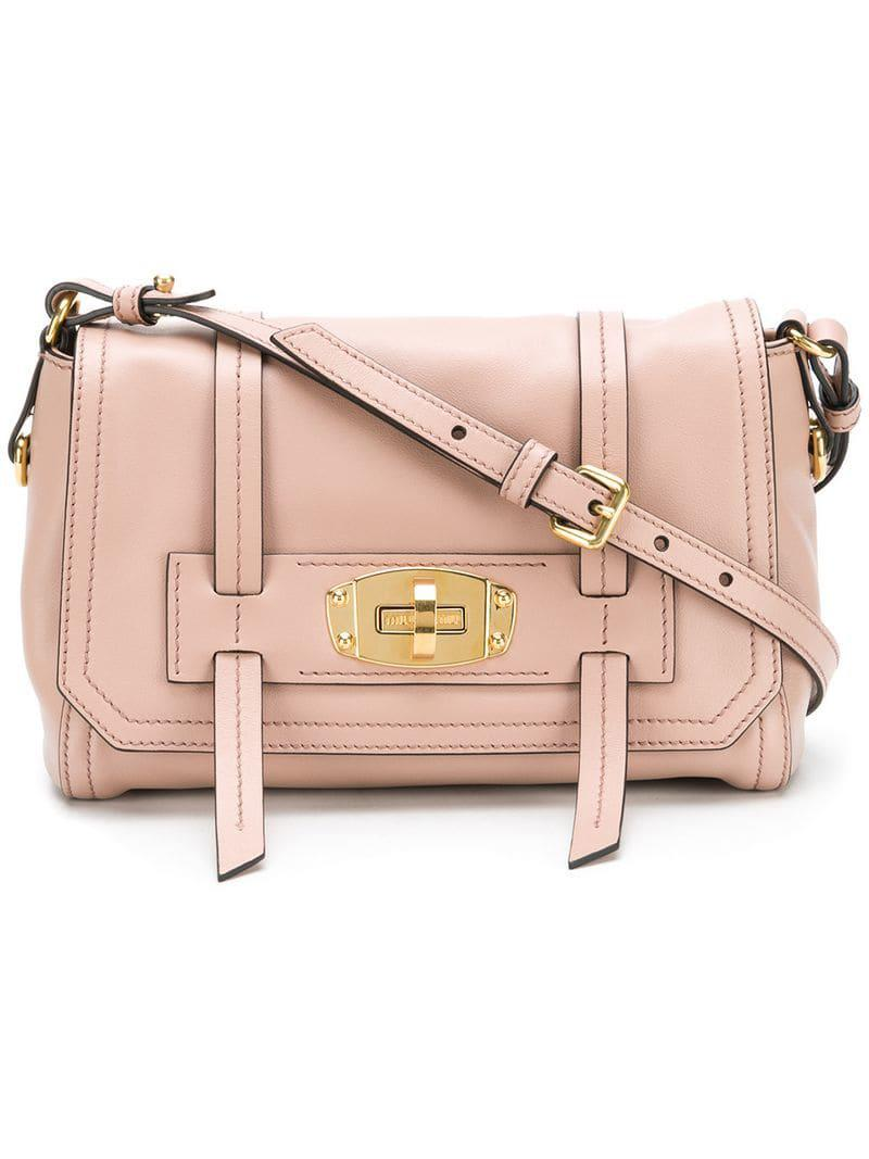 617c45de26f4 Lyst - Miu Miu Grace Lux Shoulder Bag in Pink