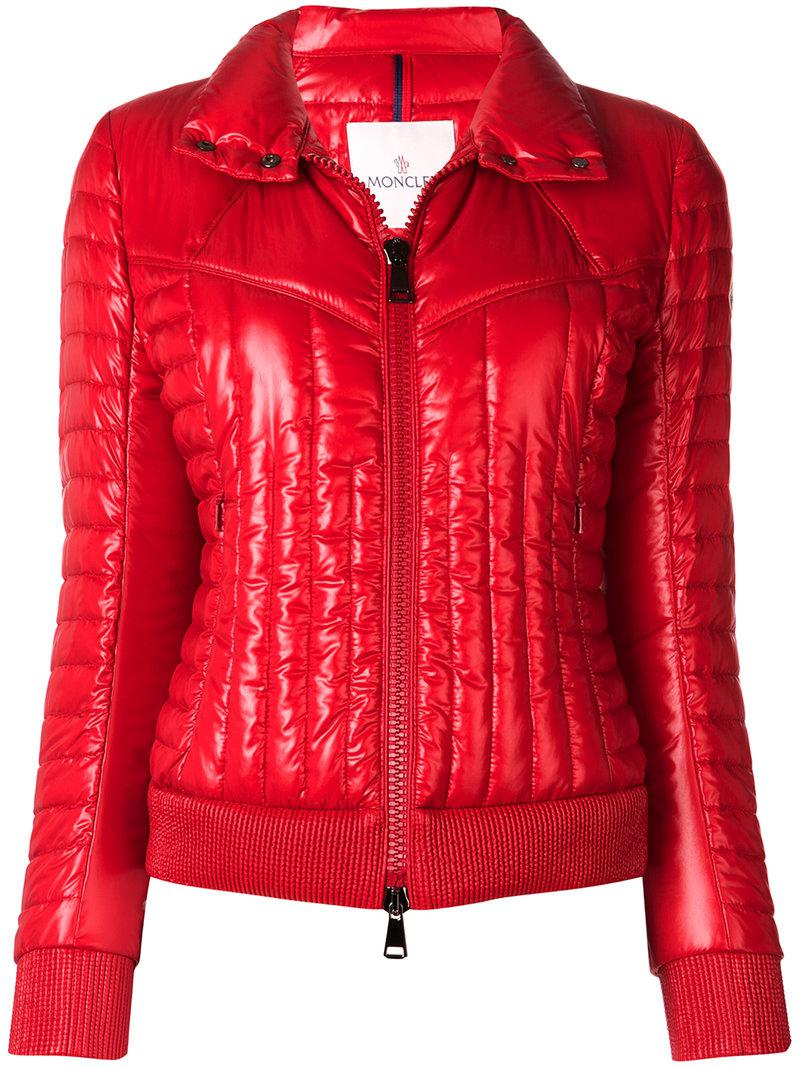 58db07124ddb hot moncler grenoble coulmes print jacket lyst cdce5 c8c22  norway lyst  moncler faisan quilted jacket in red f87ad 3a70b