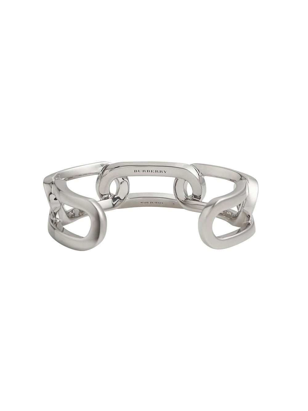 Burberry Glass Charm Palladium-plated Link Bracelet - Metallic aNLtp