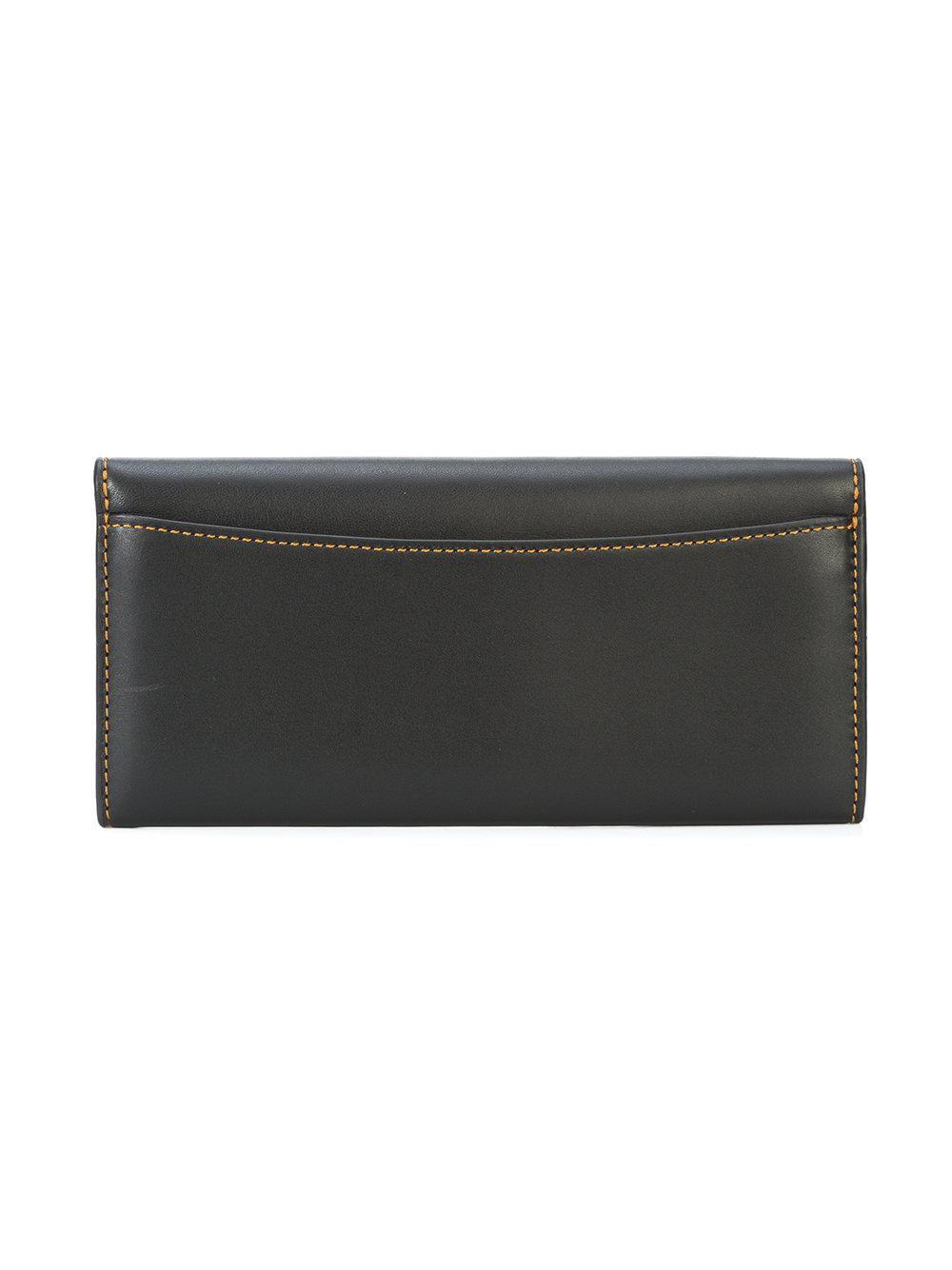 6bb7d5bbdbdc Lyst - COACH Envelope Wallet in Black
