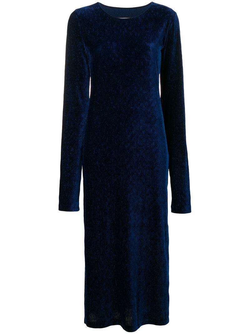 fitted silhouette midi dress - Blue Maison Martin Margiela MeeKEn7d