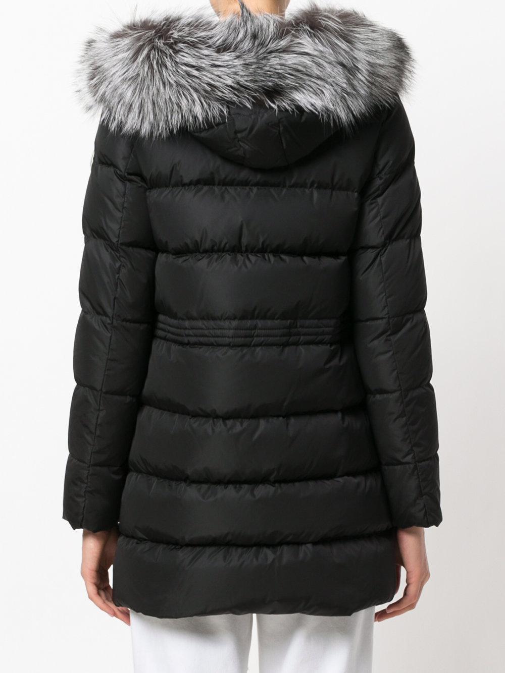 Moncler - Black Aphrotiti Coat - Lyst. View fullscreen