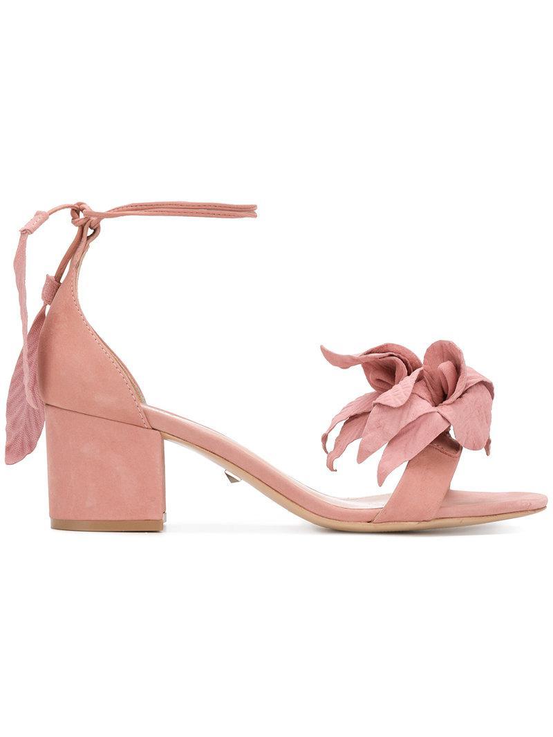 Schutz Sandales De Fleurs À Bout Ouvert - Rose Et Violet t7A0xci