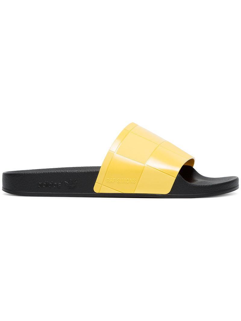 Giuseppe Zanotti Yellow adidas Originals Edition Checkerboard Adilette Slides lRSUO
