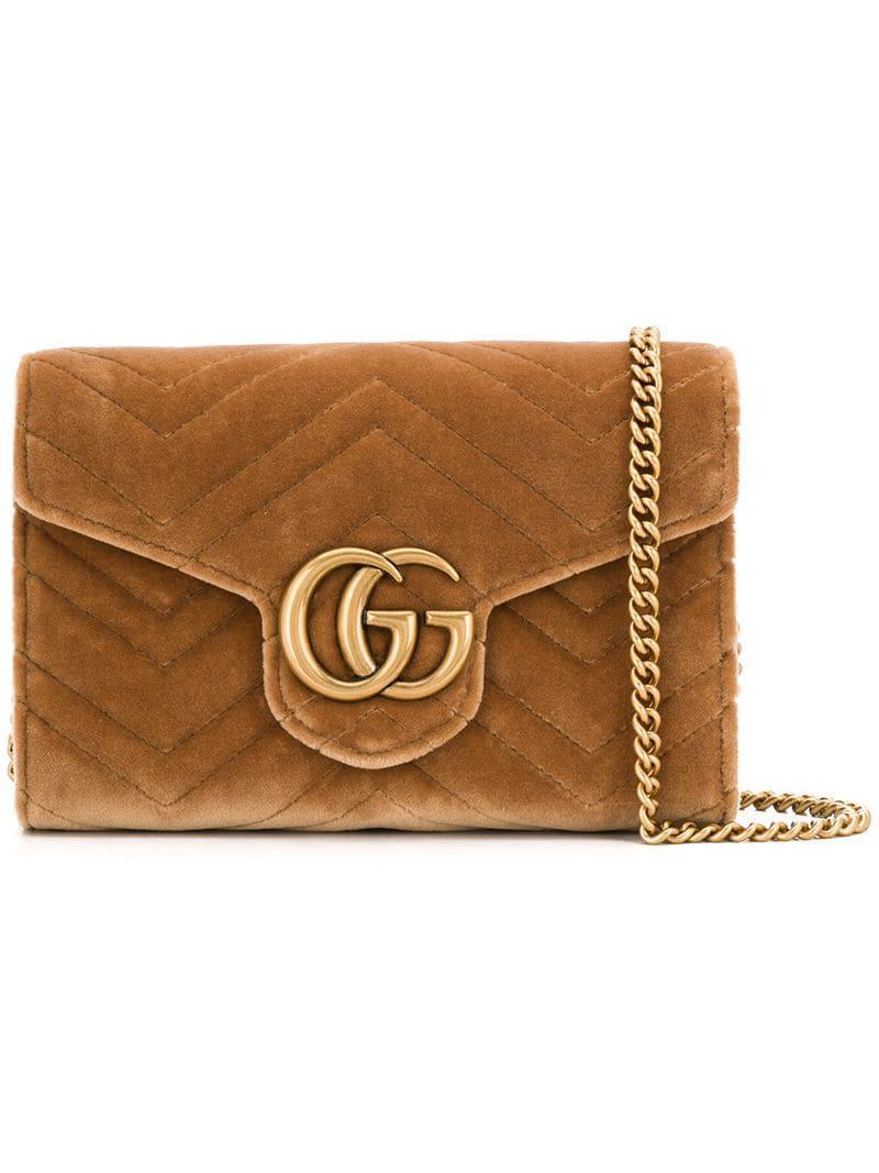 Gucci - Brown Square Crossbody Bag - Lyst. View fullscreen 5ebe0df5bbec2