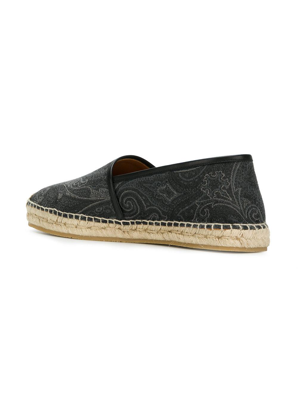 New Online embroidered pattern espadrilles - Grey Etro Free Shipping Shop Supply Cheap Price Comfortable Cheap Online Clearance Store Cheap Online 7yQ6Vmw