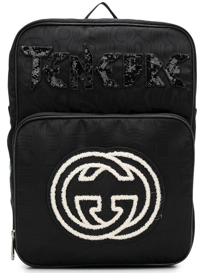 Gucci GG Logo Backpack in Black for Men - Lyst bc38b58c66560