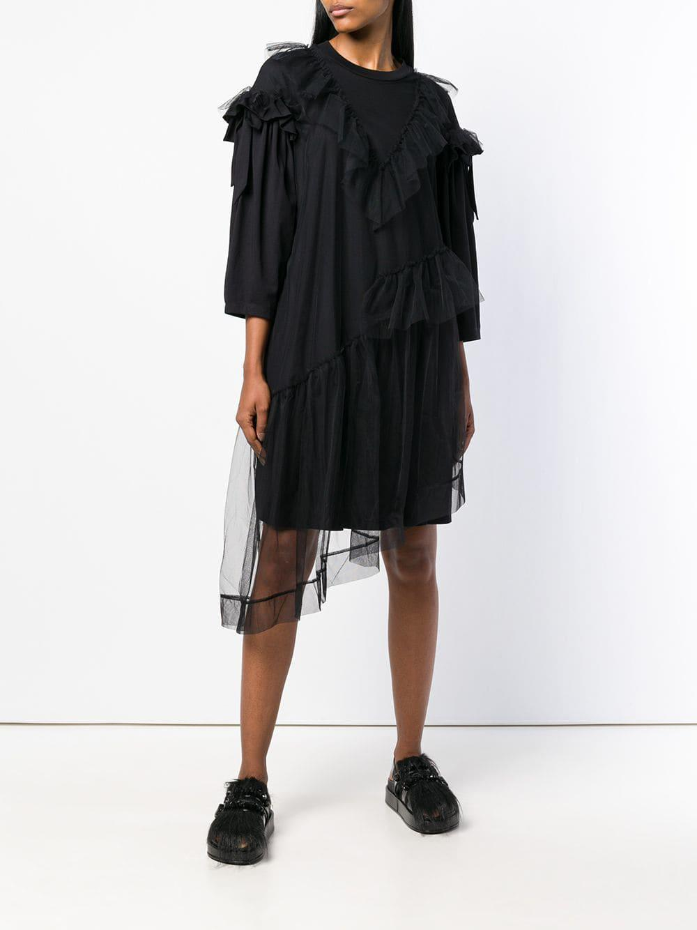 afcb18764d1cc Lyst - Simone Rocha Tulle T-shirt Dress in Black