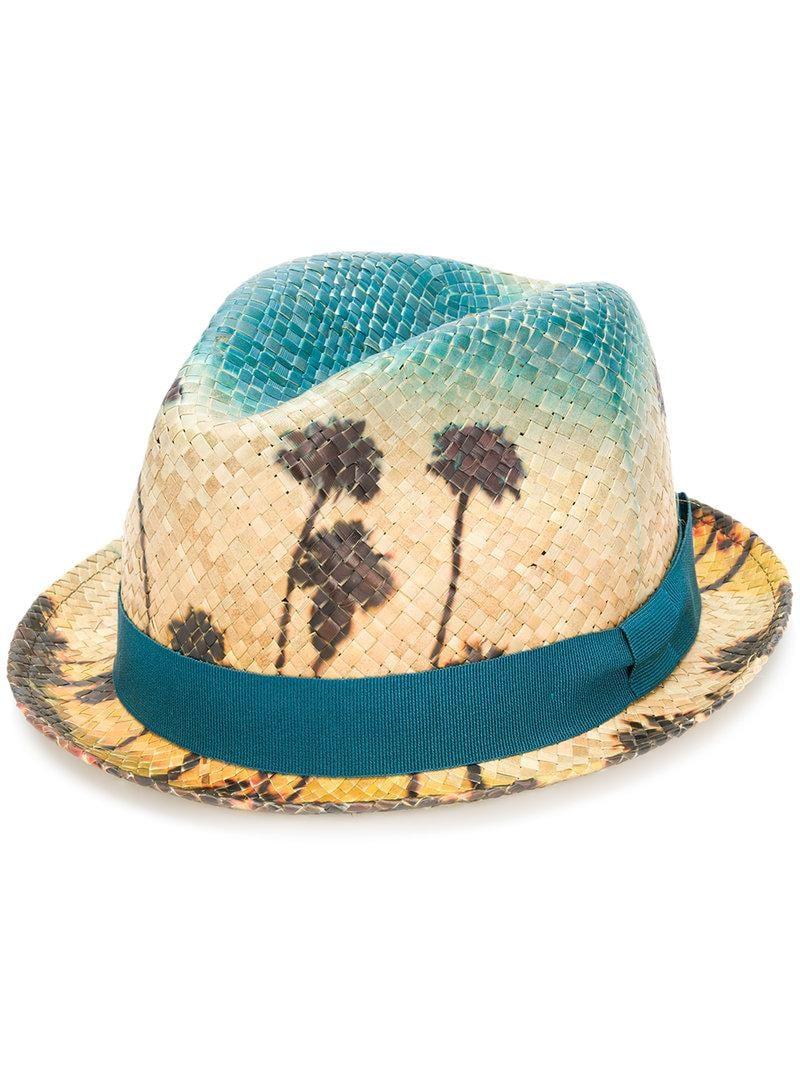 05ad8c684e6 Lyst - Chapeau trilby Palm Sky Paul Smith pour homme en coloris Bleu