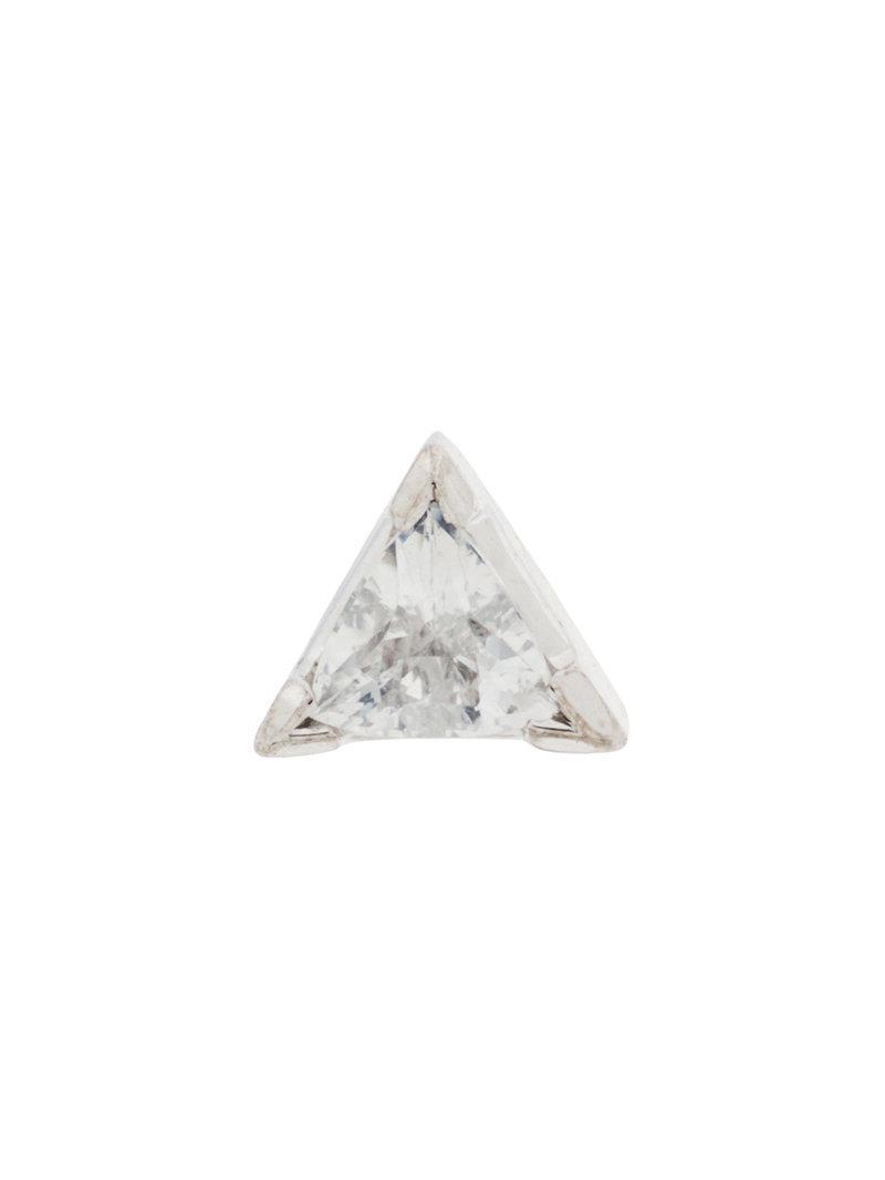 Maria Black Diamond Cut Trillion earring - Metallic SGfg9