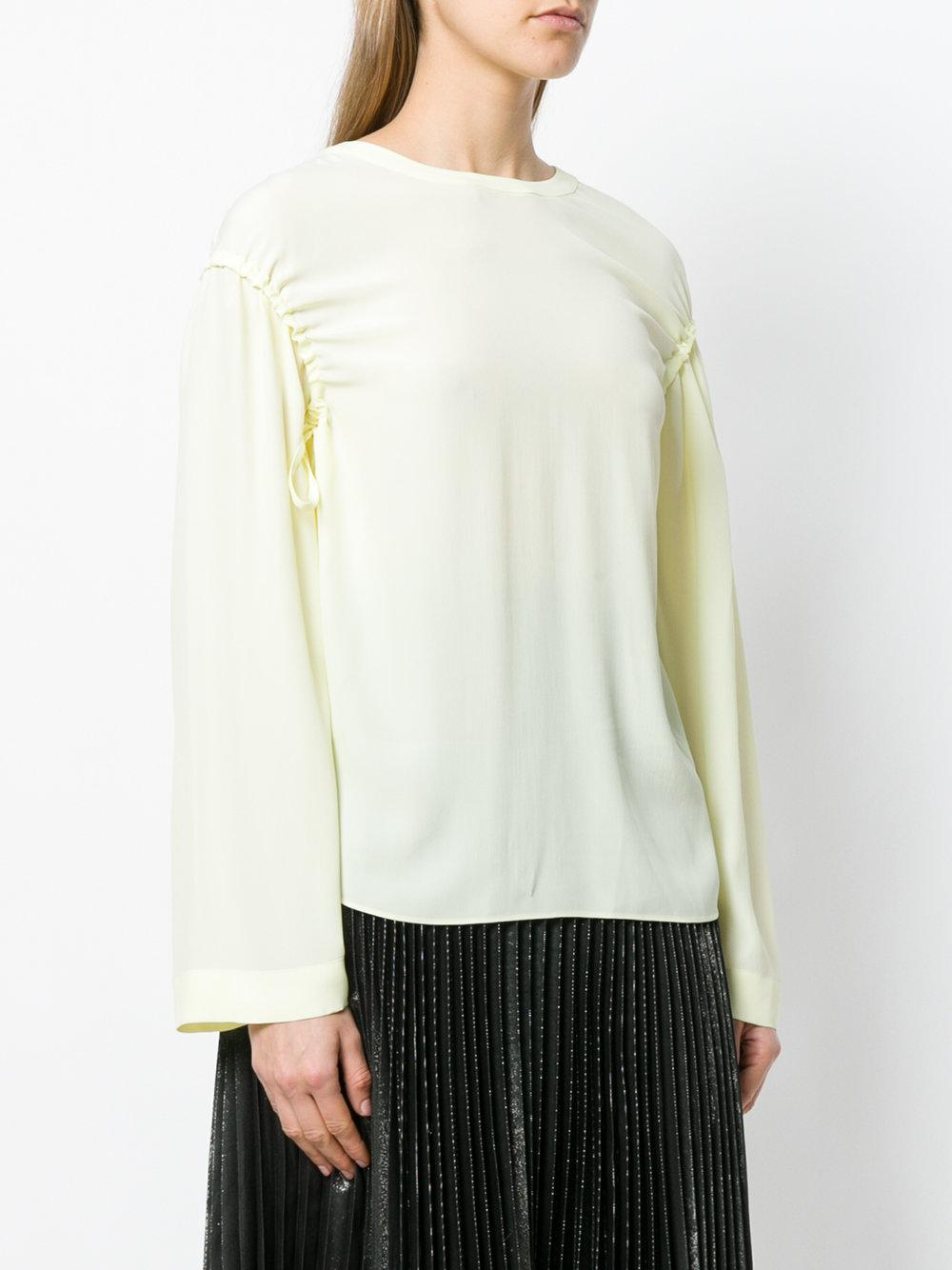 gathered sleeves blouse - Yellow & Orange Cedric Charlier New Arrival ln1fWPzq
