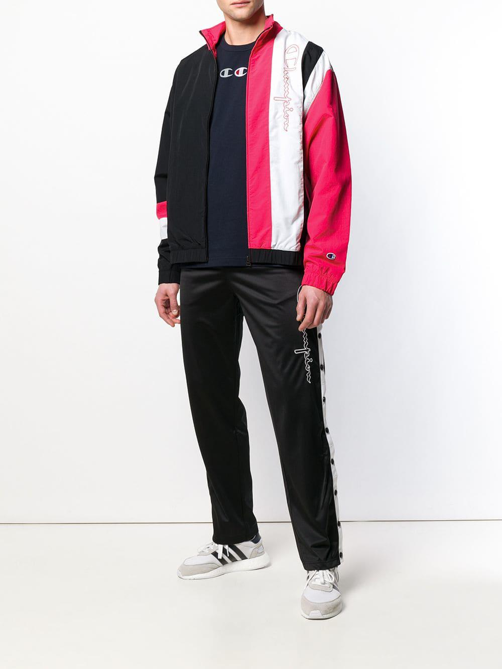 f1f04a7066c2a Lyst - Champion Vertical Stripe Track Jacket in Black for Men