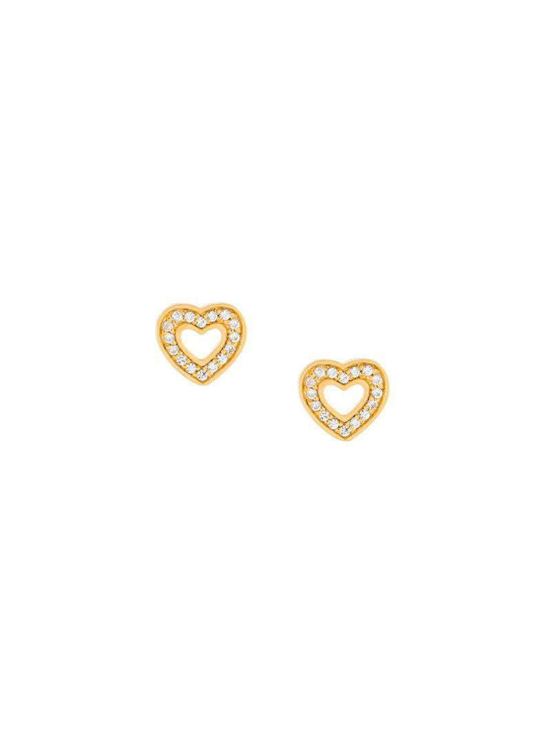 Mini Heart Biography stud earrings - Metallic Astley Clarke FRkEvPFc