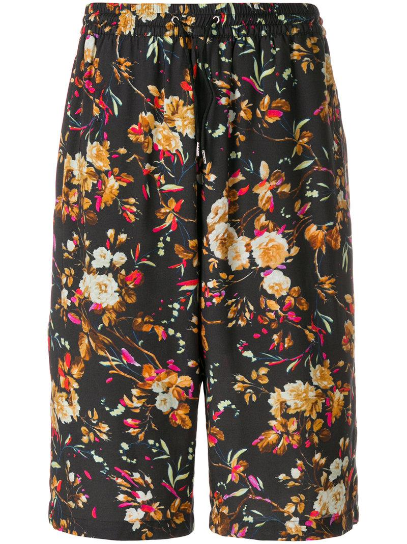 floral print shorts - Black Alexander McQueen For Sale Footlocker Cheap Latest Great Deals For Sale Sast Sale Online Free Shipping Countdown Package Xzps0LjUe7