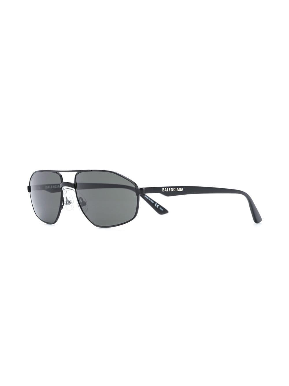 bc5572b49c6 Balenciaga - Black Top Bar Sunglasses for Men - Lyst. View fullscreen
