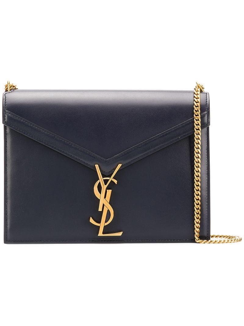 Saint Laurent Cassandra Chain Bag in Blue - Lyst e499b5f1628c9