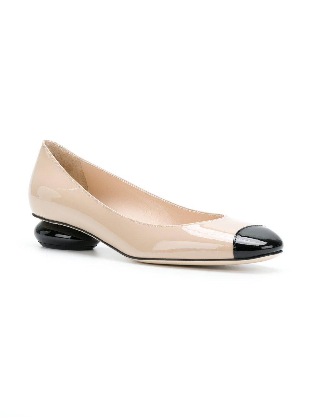 mink patent calf patent bette pump - Nude & Neutrals Bottega Veneta bP7yBJbD