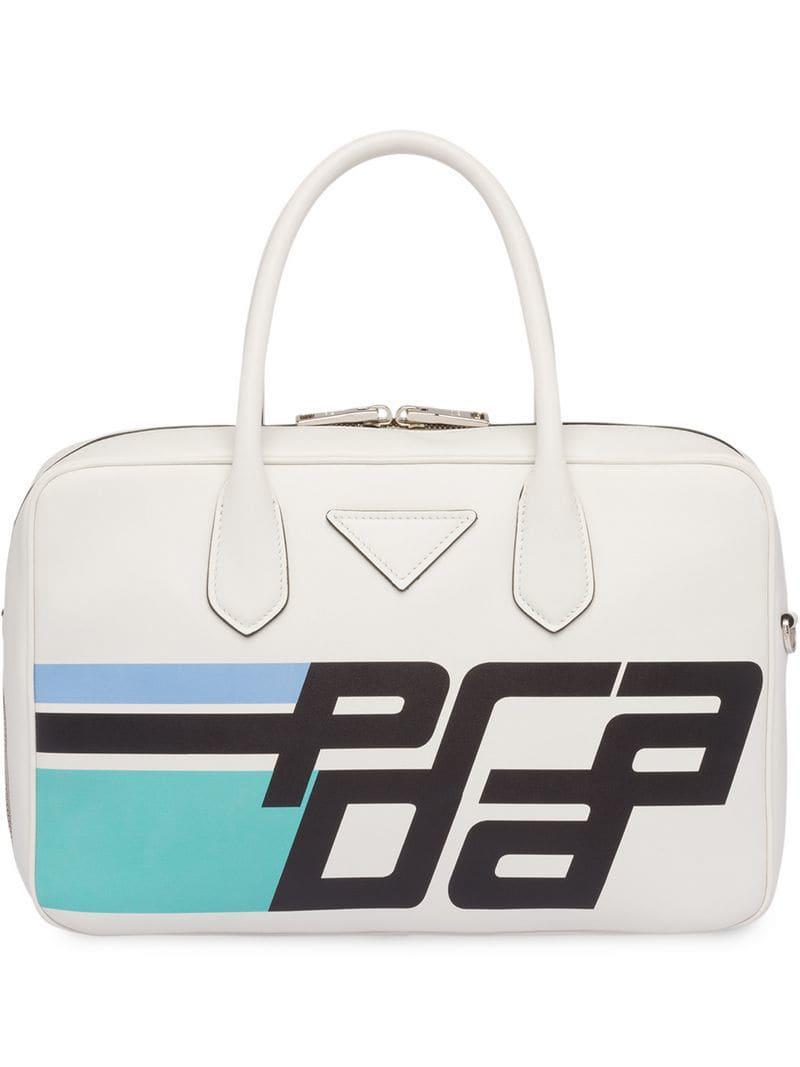 Lyst - Prada Top Handles Tote Bag in White - Save 13% f492c938eb
